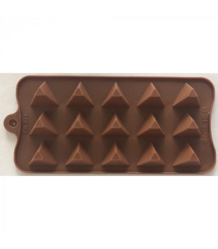 """Форма для льда и конфет """"Пирамида треугольная"""" из 15 шт"""
