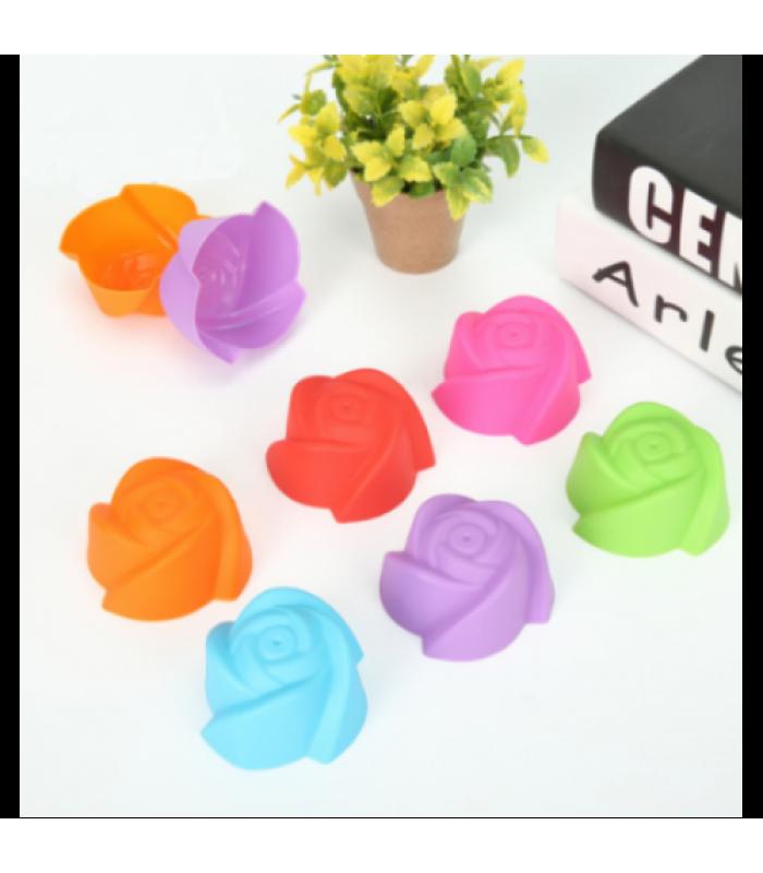 Набор силиконовых форм для выпечки кексов Роза (6 шт)