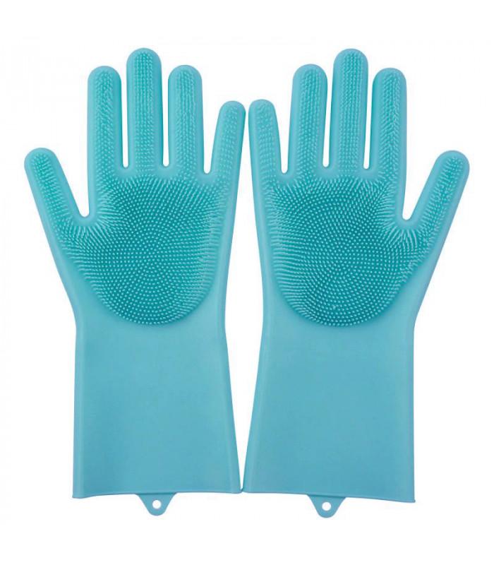 Силиконовые кухонные перчатки для мытья посуды, чистки и уборки