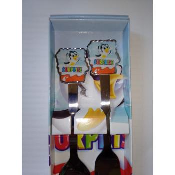 """Детский набор ложка и вилка """"Пингвин Surprise"""""""