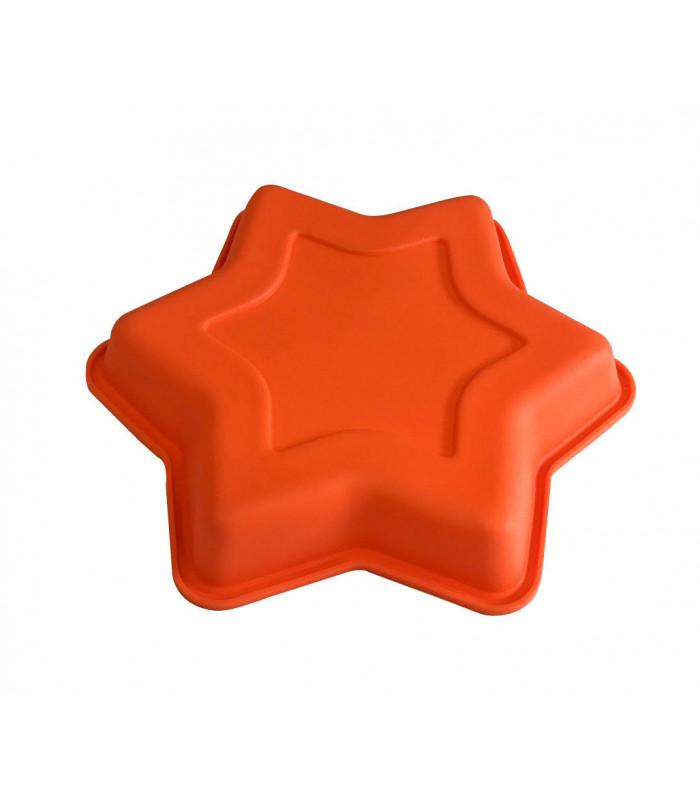 """Силиконовая форма для выпечки тортов и кексов """"Звезда"""" d-22см"""