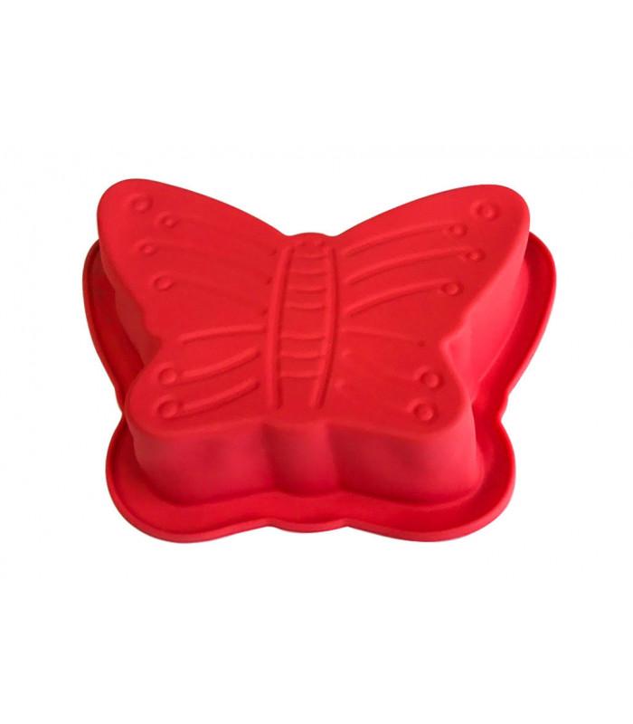 """Силиконовая форма для выпечки тортов и кексов """"Бабочка"""" 22см"""