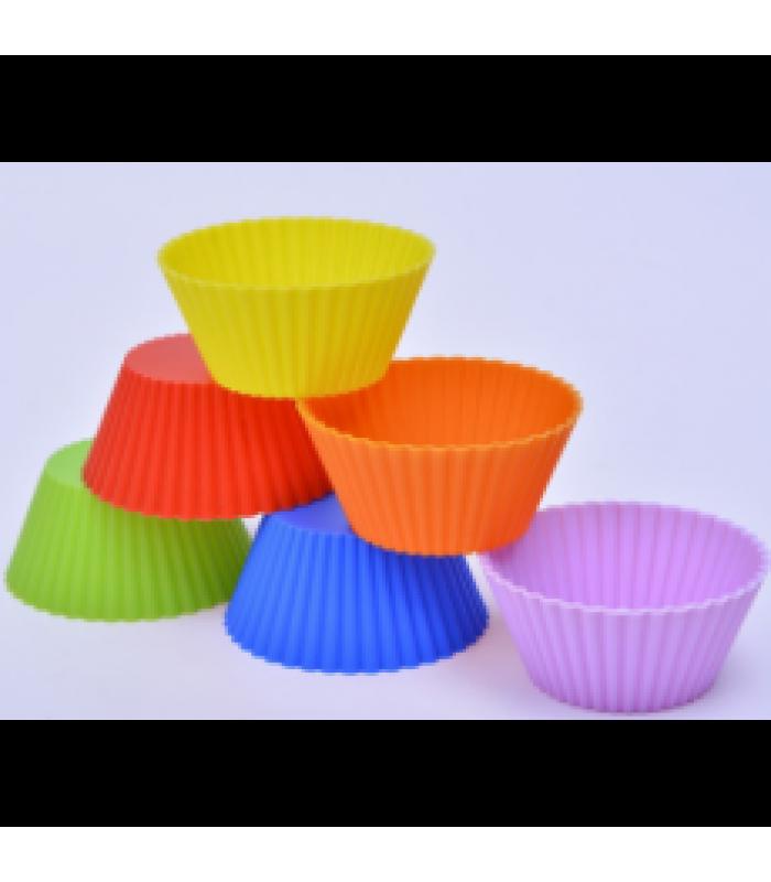Набор силиконов форм для выпечки кексов Корзинка (5 шт)
