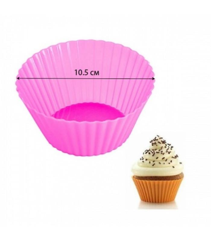 Силиконовая форма для выпечки кексов d-10,5 см (1 шт)