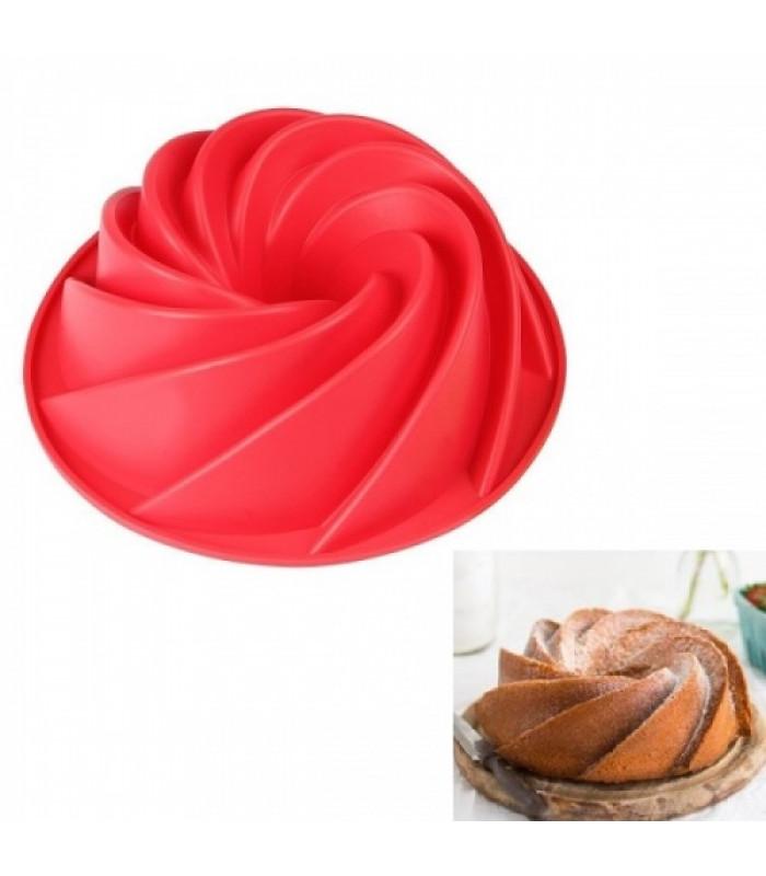 Силиконовая форма для выпечки Кекс с втулкой d-9,5 см (1 шт)
