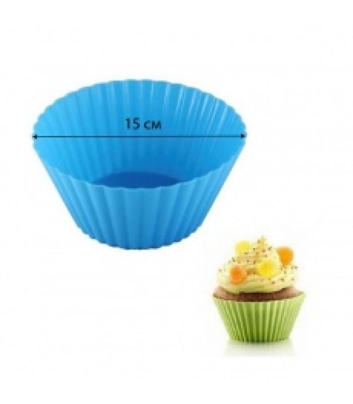Силиконовая форма для выпечки кексов d-15 см (1 шт)