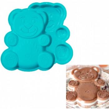 Силиконовая форма для выпечки кексов  и пирогов Барни / Валерка 18х15см
