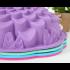Силиконовая форма для выпечки тортов и кексов с втулкой Хризантема d-23см