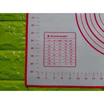 Армированный силиконовый коврик 50х60 см с разметкой