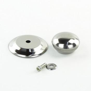 Ручка для крышек сковородок и кастрюль нерж. d-5,5 см