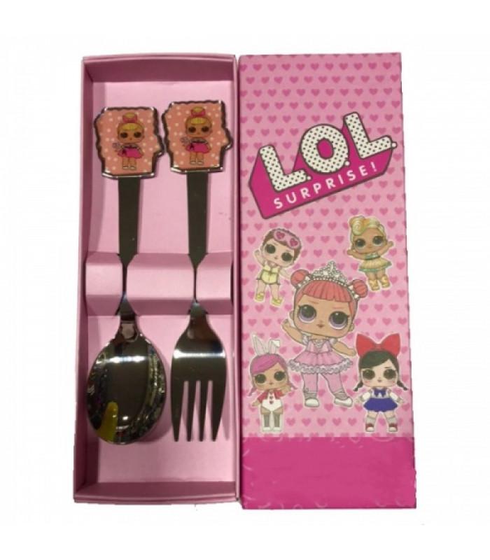 """Детский набор ложка и вилка """"LOL"""" №2"""