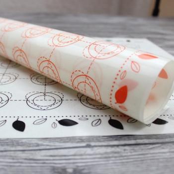 Армированный силиконовый коврик Макарунс 40х30 см с разметкой