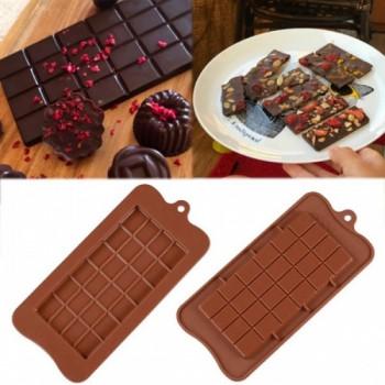 Силиконовая форма плитка шоколада классическая