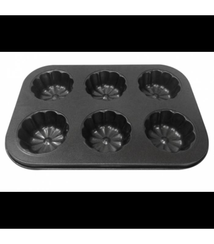 Форма для выпечки кексов (капкейков,маффинов) Цветы на 6 ячеек