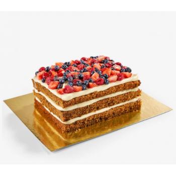 Подложка двухслойная для торта квадрат 30х30 см