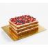 Подложка двухслойная для торта квадрат 25х25 см