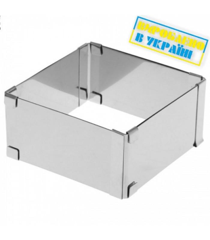 Раздвижная форма Квадрат - прямоугольник 15-28 см (v-12 см) Украина