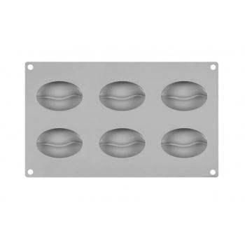 Силиконовая форма для евродесертов  Зерна кофе из 6 шт