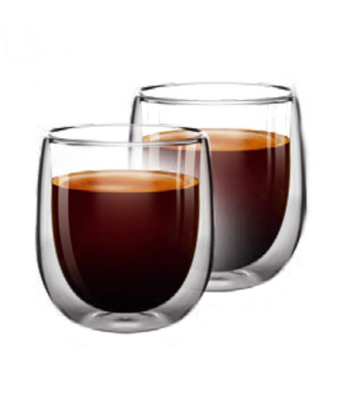 Набор чашек Ardesto 80 мл (2 шт) с двойными стенками для эспрессо AR2608G