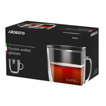 Набор чашек Ardesto 270 мл (2 шт) с двойными стенками AR2627G
