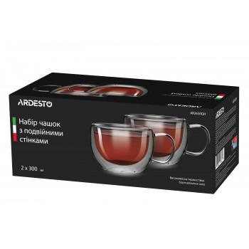 Набор чашек Ardesto 300 мл (2 шт) с двойными стенками низкие AR2630GH