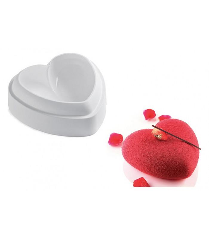 Силиконовая форма для евродесертов  Сердце (14.5х13.7х5см)