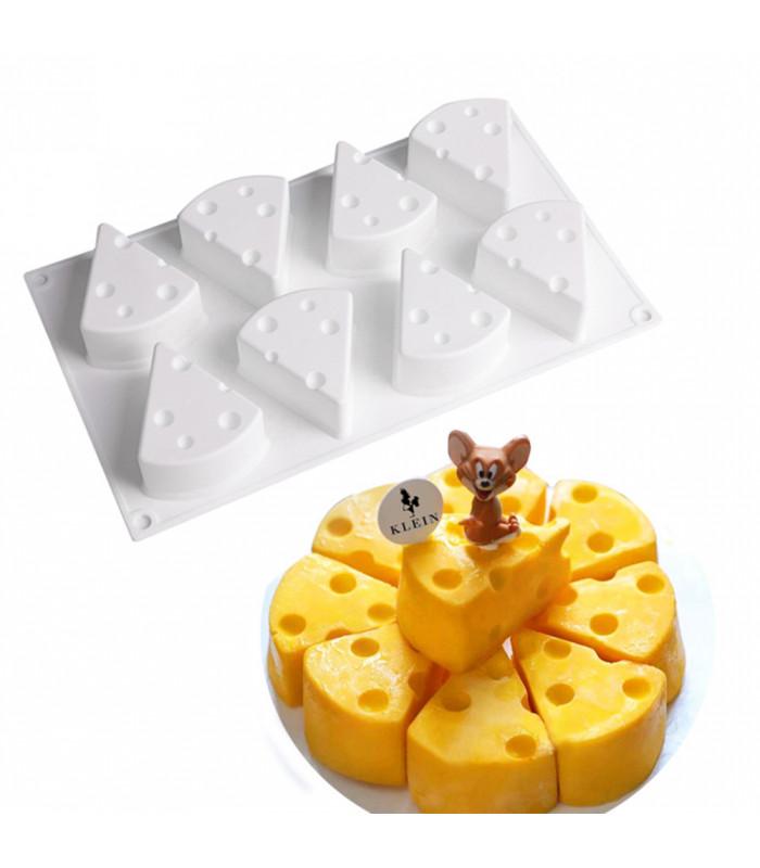 Силиконовая форма для евродесертов Сыр из 8 шт