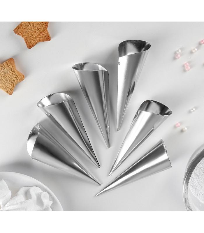 Набор конусных трубочек для выпечки (6 шт.)
