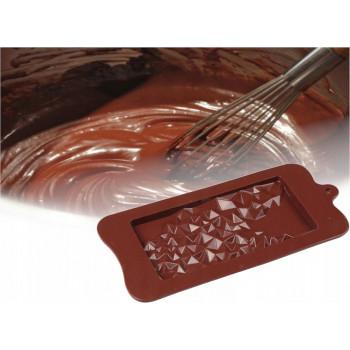 Силиконовая форма плитка шоколада Крошки