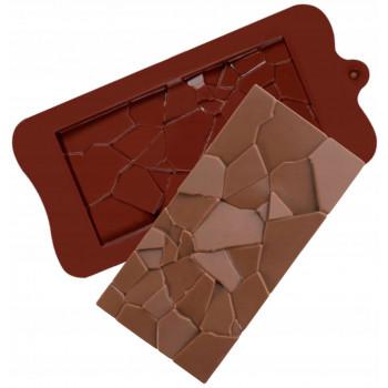 Силиконовая форма плитка шоколада Мозаика