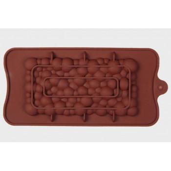 Силиконовая форма плитка шоколада Пузыри