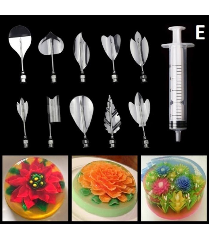 Инструменты для приготовления желе с 3D цветами E