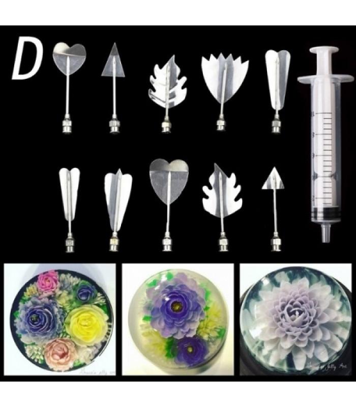 Инструменты для приготовления желе с 3D цветами D