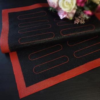 Перфорированный силиконовый коврик для выпекания 30х40 см с разметкой для эклера