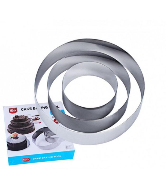 Набор колец для выпечки из 3шт (d-10, 15, 20 см.)