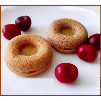 Силиконовая форма для выпечки Пончиков и Донатсов на 6 ячеек с низкой втулкой