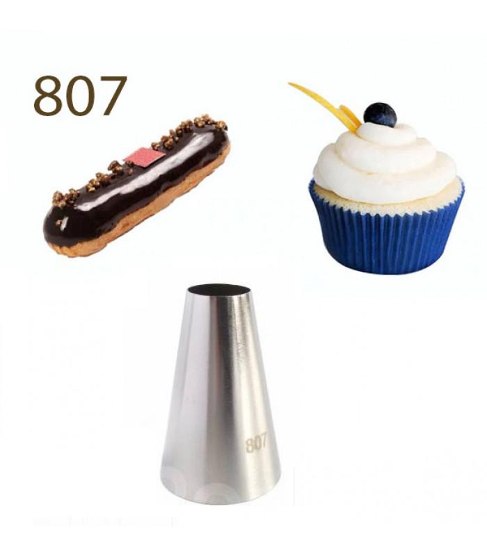 Кондитерская насадка трубочка для крема №807
