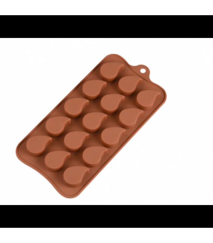 """Форма силиконовая для конфет """"Капля"""" 15шт"""
