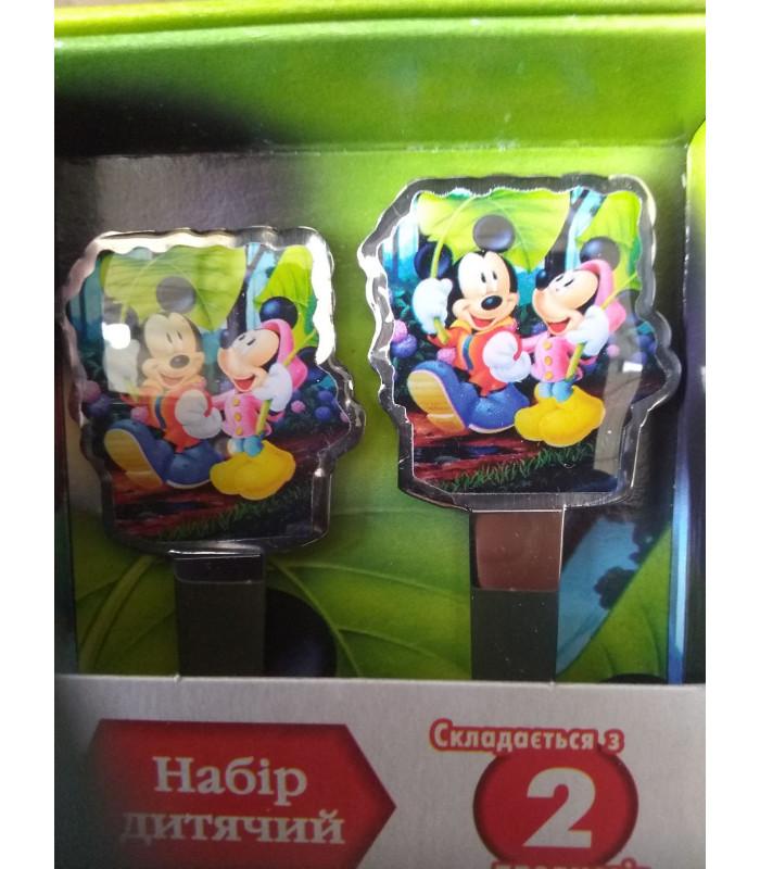 """Детский набор ложка и вилка """"Микки и Мини Маус"""""""
