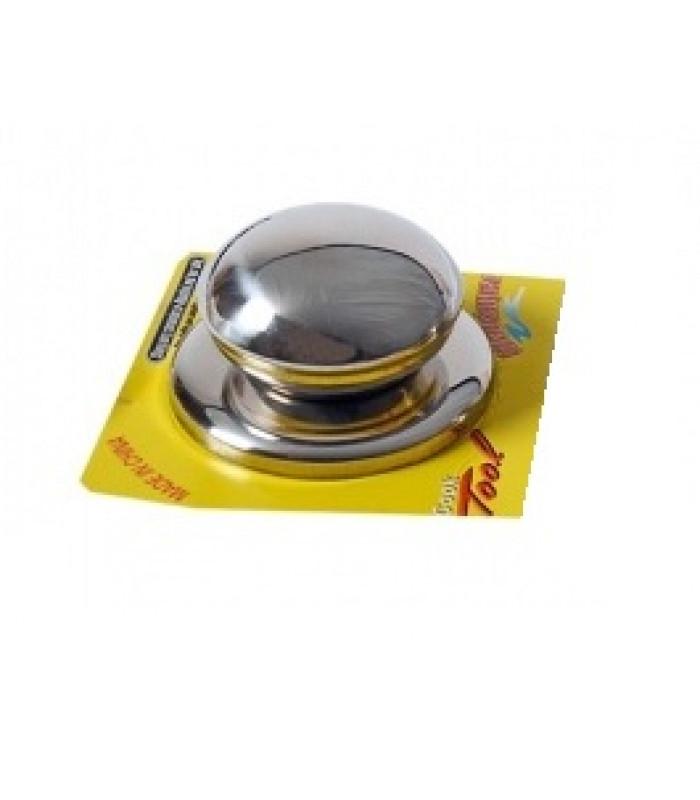 Ручка для крышек сковородок и кастрюль нерж. d-7 см