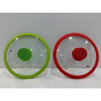 Крышка стеклянная с силиконовым ободком 24 см