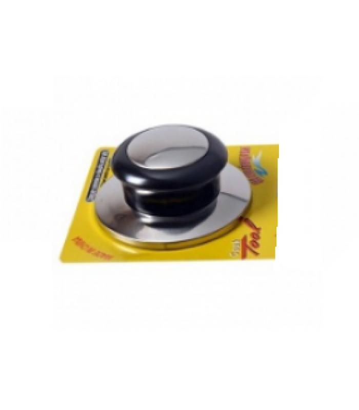 Ручка для крышек сковородок и кастрюль нерж./пластик d-6 см