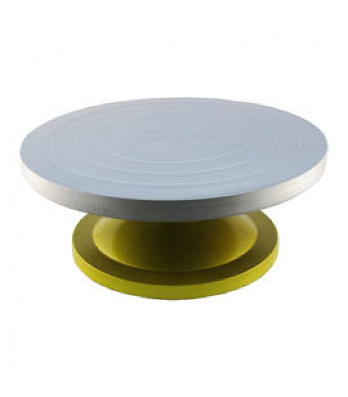 Вращающаяся подставка (столик) для торта из усиленного пластика 30см