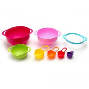 Набор кухонных принадлежностей (миски, сито, мерные ложки) 8 в 1