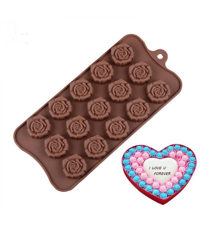 """Форма силиконовая для конфет """"Роза"""" 15 шт."""