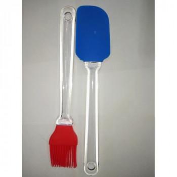 Набор лопатка и кисточка силиконовая