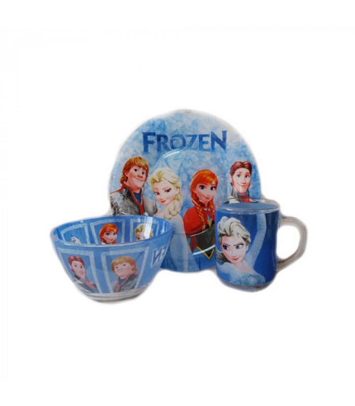 """Детский набор посуды (стекло) """"Холодное сердце"""" НОВИНКА!!!"""