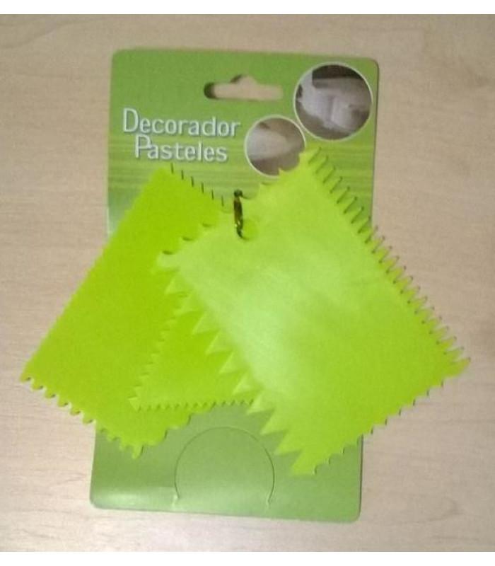 Набор шпателей - скребков кондитерских 3 шт. зубчатый