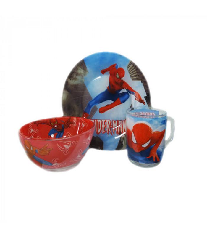 """Детский набор посуды (стекло) """"Спайдермен"""" НОВИНКА!!!"""