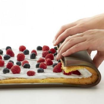 Силиконовый коврик противень для выпечки с бортиком